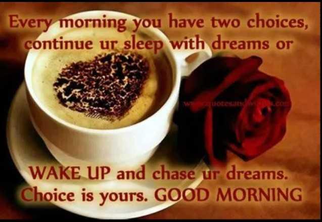 👌👌 শুভ সকাল 👌👌 - Every morning you have two choices , continue ur sleep with dreams or uotesan WAKE UP and chase ur dreams . Choice is yours . GOOD MORNING - ShareChat