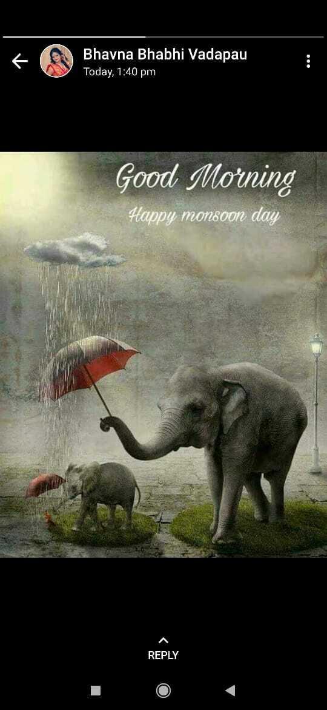 শুভ সকাল🌄🙋 - ' Bhavna Bhabhi Vadapau Today , 1 : 40 pm Good Morning Happy monsoon day REPLY - ShareChat
