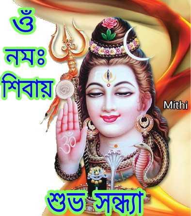 🌗শুভ সন্ধ্যা - নমঃ শিবায় Mithi শুভ সন্ধ্যা - ShareChat