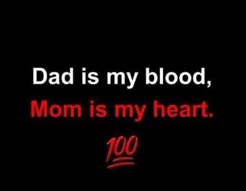 👬 সম্পর্ক - Dad is my blood , Mom is my heart . 100 - ShareChat