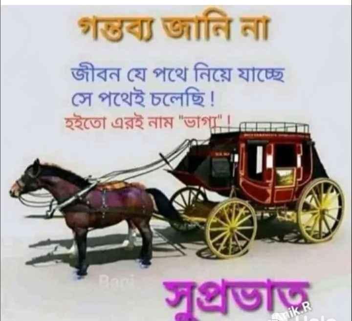 🌞সুপ্রভাত - গন্তব্য জানি না জীবন যে পথে নিয়ে যাচ্ছে সে পথেই চলেছি ! হইতাে এরই নাম ভাগ্য ! সুপ্রভাত - ShareChat
