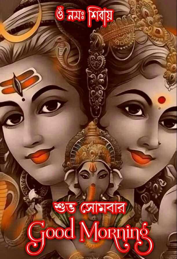 🌞সুপ্রভাত - ওঁ নমঃ শিবায় শুভ সােমবার । গুত সােমবার Good Morning - ShareChat