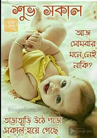 🌞সুপ্রভাত - | শুভ সকাল । কালা ) Sms আজ সোমবার মনে নেই নাকি ? bengalisms . in তাড়াতাড়ি উঠে পড়েী সকাল হয়ে গেছে । Google play - ShareChat