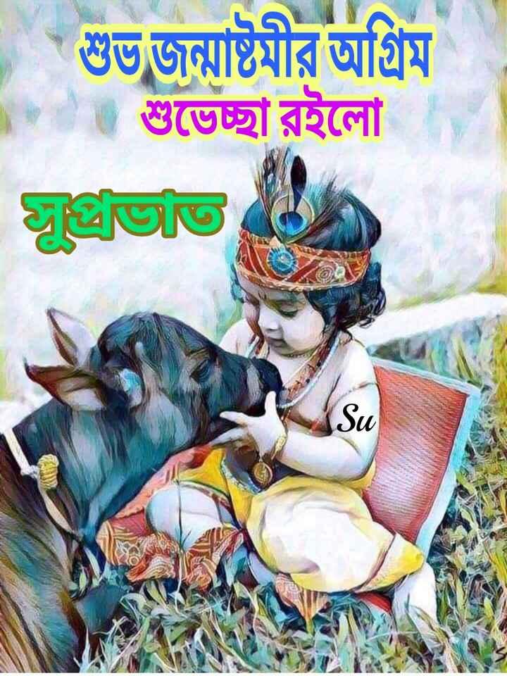🌞সুপ্রভাত - শুভজন্মাষ্টমার আগ্রম / শুভেচ্ছা রইলাে । - ShareChat