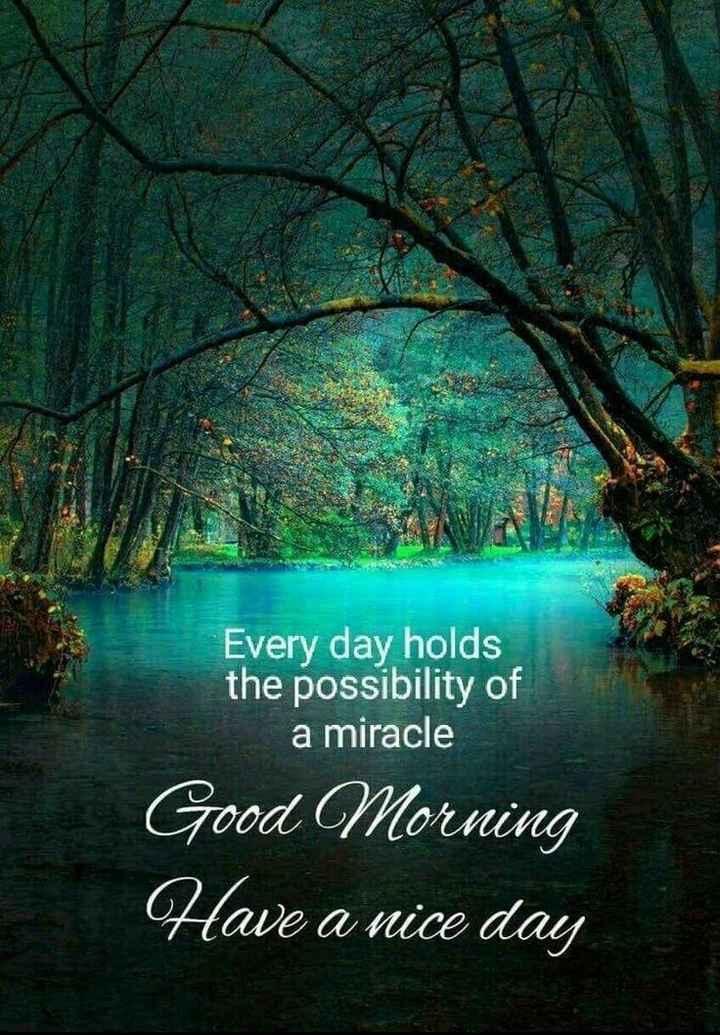 🌞সুপ্রভাত - Every day holds the possibility of a miracle Good Morning Have a nice day - ShareChat