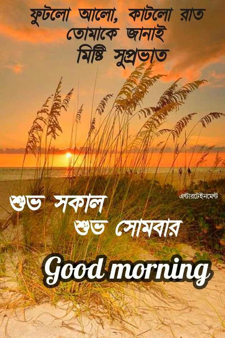 🌞সুপ্রভাত - ফুটলাে আলাে , কাটলাে রাত তােমাকে জানাই মিষ্টি সুপ্রভাত } y * এন্টারটেইনমেন্ট | শুভ সকাল শুভ সােমবার Good morning - ShareChat