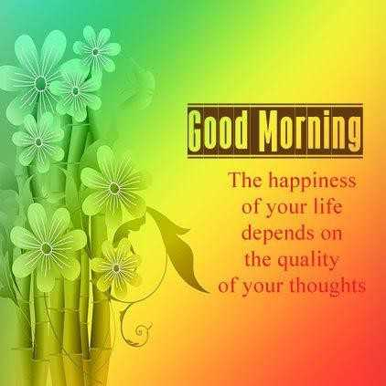🌞সুপ্রভাত - Good Morning The happiness of your life depends on the quality of your thoughts - ShareChat