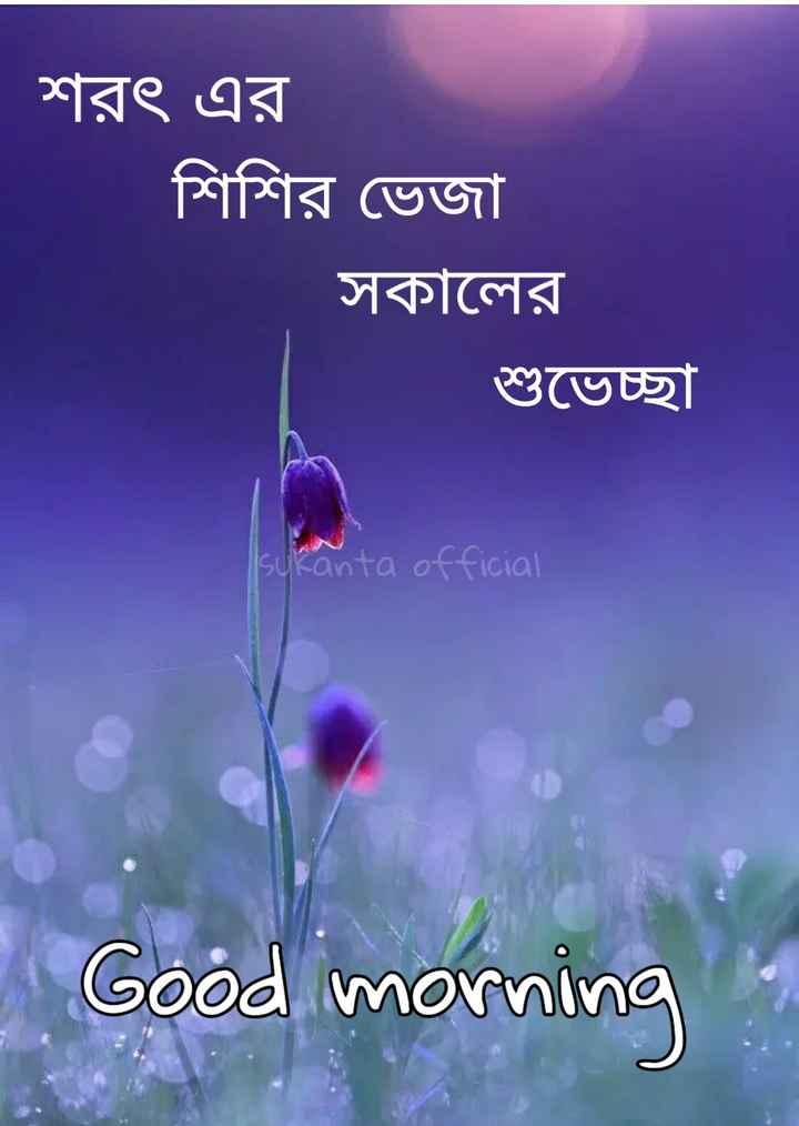 🌞সুপ্রভাত - শরৎ এর শিশির ভেজা সকালের শুভেচ্ছা sukanta official Good morning - ShareChat