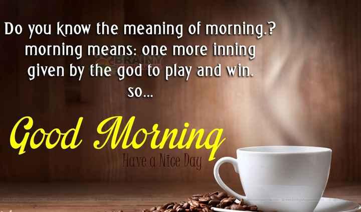 🌞 সুপ্ৰভাত - Do you know the meaning of morning . ? morning means : one more inning given by the god to play and win . SO . . . Good Morning Have a Nice Day © www . brainyteluguquotes . com © www . brainyfeluguquotes . com © www . broinyteluguquotes . com © www . brainyteluguquotes . com brainyteluguquotes . com © www . brainyteluguquotes . com © www . boniteluguquo - ShareChat