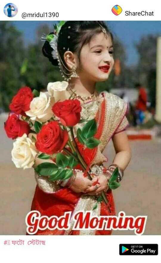 🌞 সুপ্ৰভাত - @ mridul1390 ShareChat Good Morning # X Po 15 GET IT ON Google Play - ShareChat