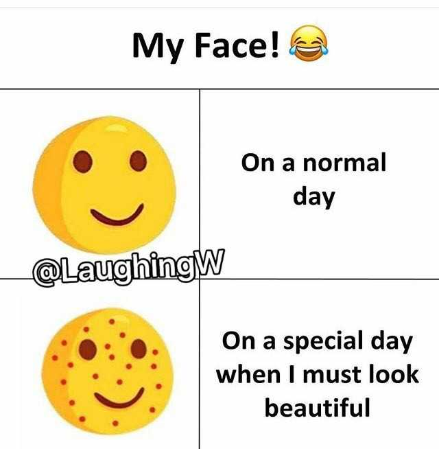 😁হাস্য কৌতুক - My Face ! On a normal day _ @ Laughing On a special day when I must look beautiful - ShareChat