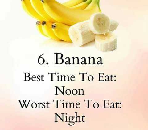 💊হেলথ টিপস - 6 . Banana Best Time To Eat : Noon Worst Time To Eat : Night - ShareChat