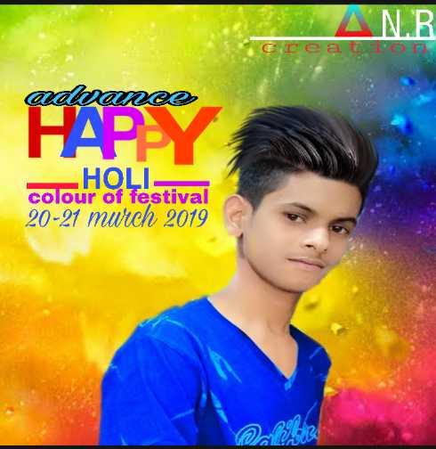 হোলি_সেলফি - ANR creato adwance HAPPY HOLI colour of festival 20 - 21 mwrch 2019 COLOR - ShareChat