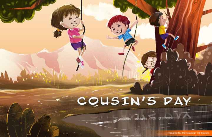 👫 হ্যাপি কাজিনস ডে  👫 - COUSIN ' S DAY Created for Mi Calendar | © Xiaomi - ShareChat