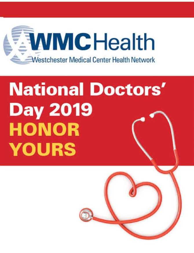 হ্যাপি ডক্টর ডে 👩⚕️ - WMCHealth Westchester Medical Center Health Network National Doctors ' Day 2019 HONOR YOURS - ShareChat