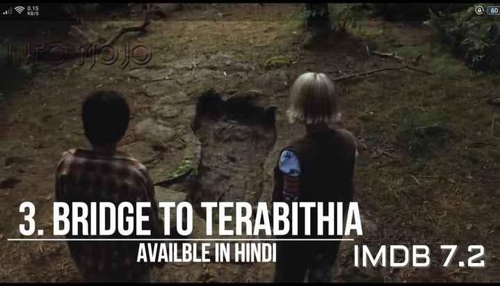 🤣হ্যাস্যকর ভিডিও - 60 3 . BRIDGE TO TERABITHIA AVAILBLE IN HINDI IMDB 7 . 2 - ShareChat