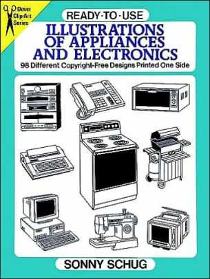 📺 ਇਲੈਕਟ੍ਰਾਨਿਕ appliances - 9 Dover ClipArt READY - TO - USE Sories ILLUSTRATIONS OF APPLIANCES AND ELECTRONICS 98 Different Copyright - Free Designs Printed One Side 11 SONNY SCHUG - ShareChat