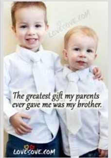 😎 ਐਟੀਟਿਉਡ ਸਟੇਟਸ - The greatest gift my parents ever gave me was my brother . LOVESOVE . COM - ShareChat