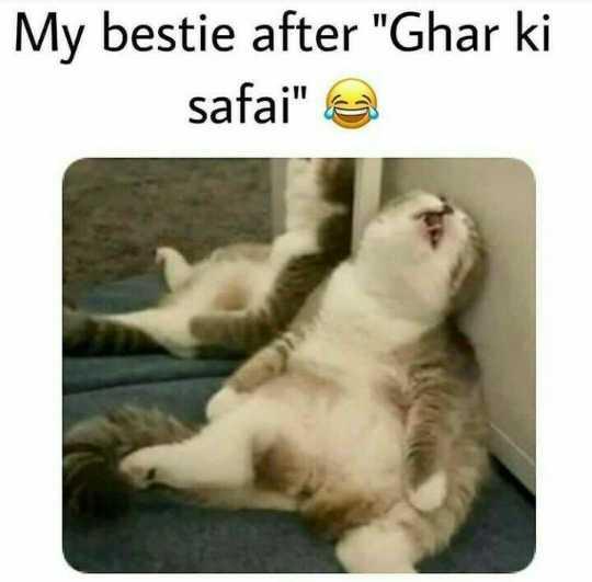 😜  ਕਲੋਲਾਂ - My bestie after Ghar ki safai e - ShareChat
