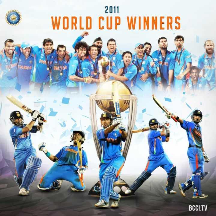 🏏 ਕ੍ਰਿਕਟ LIVE - 2011 WORLD CUP WINNERS INA VIDINDIA Reebok IN BCCI . TV - ShareChat