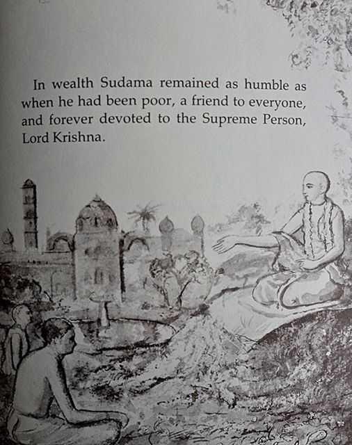 ਕ੍ਰਿਸ਼ਨਾ ਸੁਦਾਮਾ ਵਰਗੀ ਦੋਸਤੀ - In wealth Sudama remained as humble as when he had been poor , a friend to everyone , and forever devoted to the Supreme Person , Lord Krishna . - ShareChat