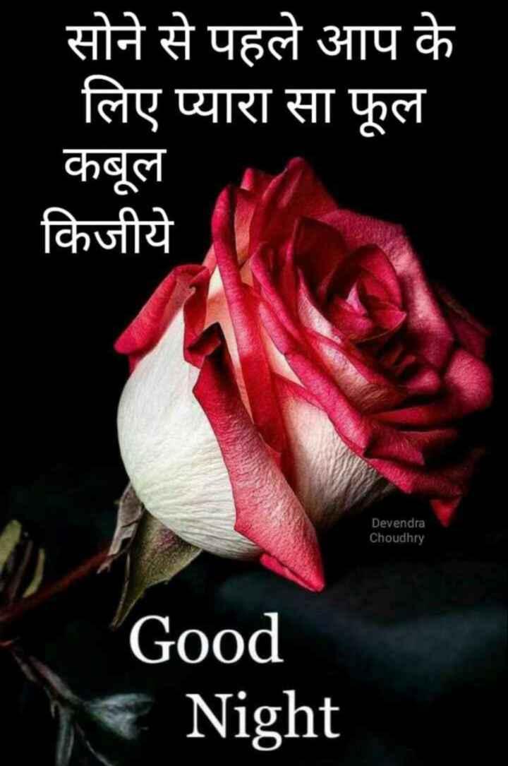 🌙  ਗੁੱਡ ਨਾਇਟ ਵੀਡੀਓ - सोने से पहले आप के लिए प्यारा सा फूल कबूल किजीये Devendra Choudhry Good Night - ShareChat