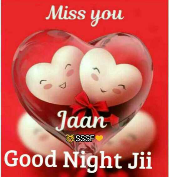 🌙 ਗੁੱਡ ਨਾਇਟ ਵੀਡੀਓ - Miss you co Jaan Good Night Jii SSSF - ShareChat