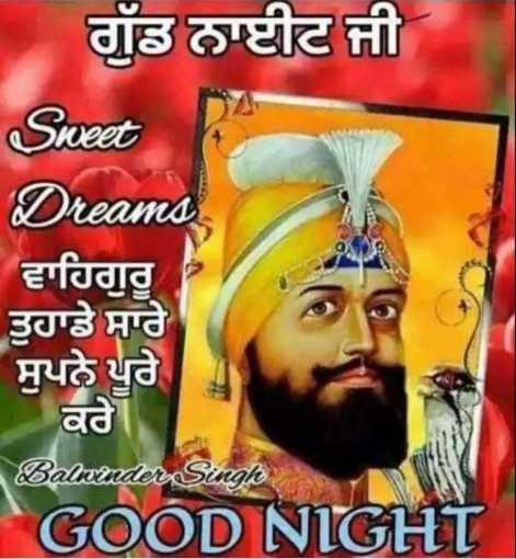 🌙  ਗੁੱਡ ਨਾਇਟ ਵੀਡੀਓ - ਗੁੱਡ ਨਾਈਟ ਜੀ Sweet Dreams ਵਾਹਿਗੁਰੂ ਤੁਹਾਡੇ ਸਾਰੇ ਸੁਪਨੇ ਪੂਰੇ ਕਰੇ । Balwinder Singh GOOD NIGHT - ShareChat