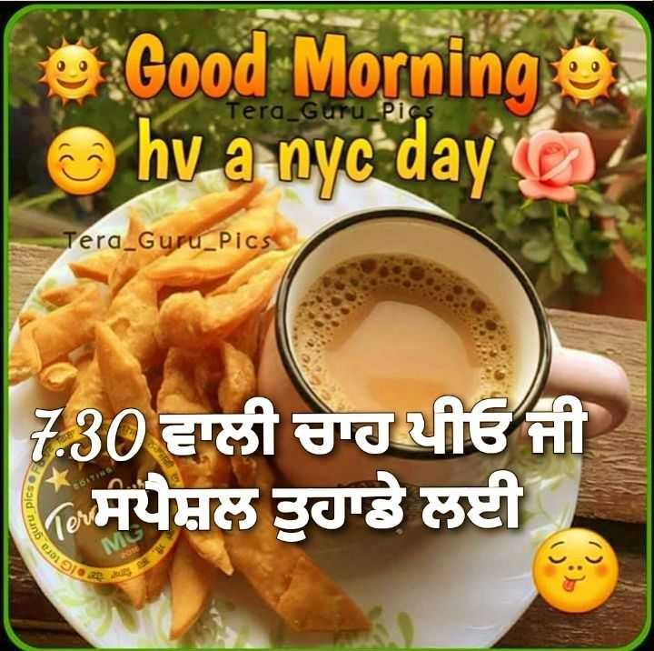 🌅 ਗੁੱਡ ਮੋਰਨਿੰਗ - e Good Morning e hv a nyc day o Tera Guru _ Pics Tera _ Guru _ Pics 7 . 30 ਵਾਲੀ ਚਾਹ ਪੀਓ ਜੀ * ਸਪੈਸ਼ਲ ਤੁਹਾਡੇ ਲਈ - ShareChat