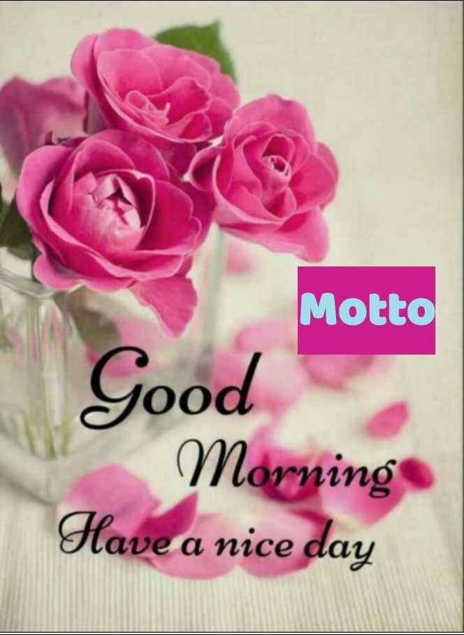 🌅 ਗੁੱਡ ਮੋਰਨਿੰਗ - Motto Good Morning Have a nice day - ShareChat