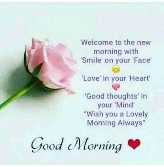 🌅 ਗੁੱਡ ਮੋਰਨਿੰਗ - Welcome to the new morning with ' Smile ' on your ' Face ' Love ' in your ' Heart ' ' Good thoughts ' in your ' Mind Wish you a Lovely Morning Always Good Morning - ShareChat