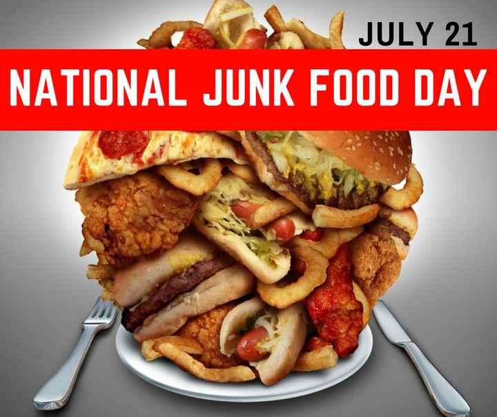 🍟ਜੰਕ ਫੂਡ ਡੇ🌭 - JULY 21 NATIONAL JUNK FOOD DAY - ShareChat