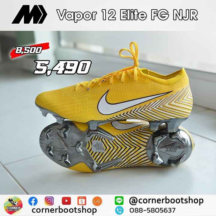 ⚽ ਫੁਟਬਾਲ - M Vapor 12 Elite FG NJR 8 , 500 5 , 490 A THE CHROME No 6 O © cornerbootshop m @ cornerbootshop 088 - 5805637 CORNER BOOT SNOP - ShareChat