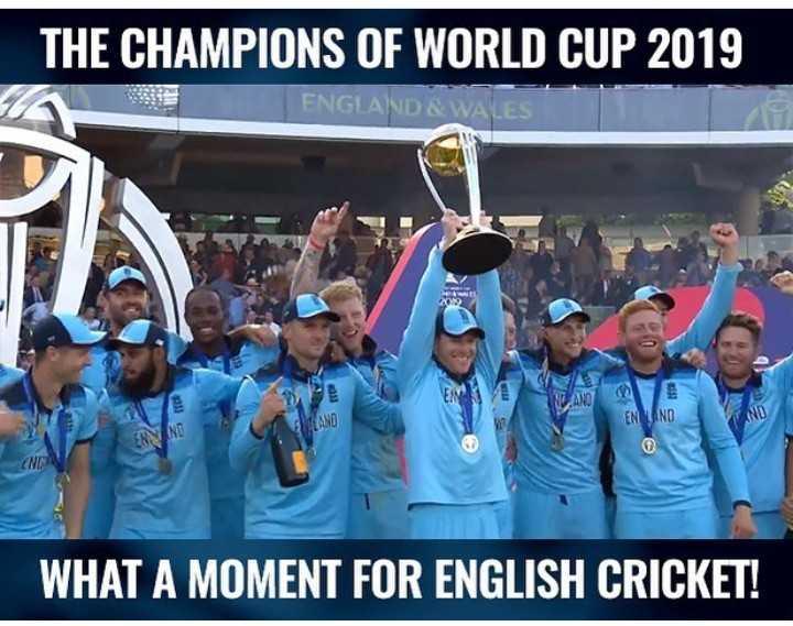 🏏 ਬੈਸਟ ਮੈਚ moment ਓਫ ਦ ਡੇ - THE CHAMPIONS OF WORLD CUP 2019 ENGLAND & WALES N1 ANO LANO ENLAND WHAT A MOMENT FOR ENGLISH CRICKET ! - ShareChat