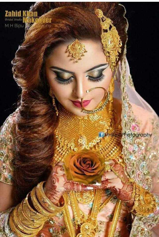 💄ਬ੍ਰਾਈਡਲ ਮੇਕਅਪ - Zahid Kran Bridal Studis Nas her MH Bipu Daphy HB Photography - ShareChat