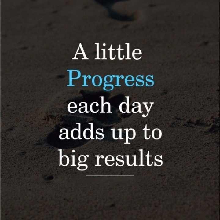 🏆 ਮੇਰਾ ਟੈਲੇੰਟ - A little Progress each day adds up to big results - ShareChat