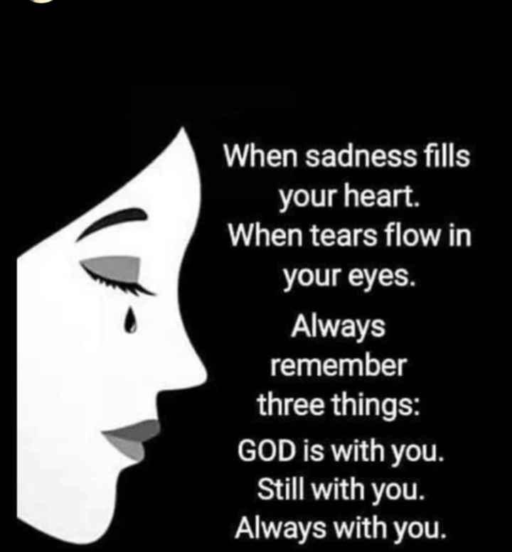 🔍 ਮਜ਼ੇਦਾਰ facts 🔖 - When sadness fills your heart . When tears flow in your eyes . Always remember three things : GOD is with you . Still with you . Always with you . - ShareChat