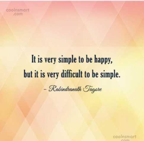 🔍 ਮਜ਼ੇਦਾਰ facts 🔖 - coolnsmart . com It is very simple to be happy , but it is very difficult to be simple . - Rabindranath Tagore coolnsmart - ShareChat