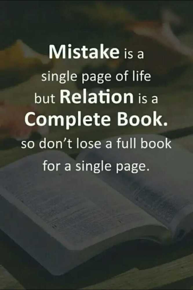 🔍 ਮਜ਼ੇਦਾਰ facts 🔖 - Mistake is a single page of life but Relation is a Complete Book . so don ' t lose a full book for a single page . - ShareChat