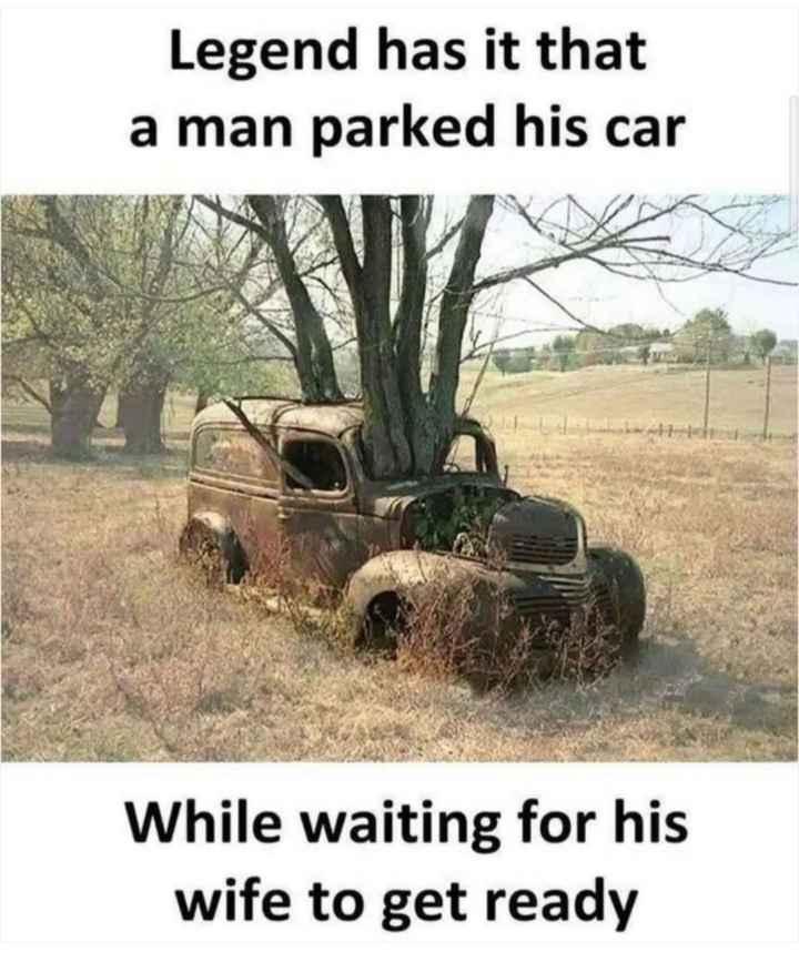 🔍 ਮਜ਼ੇਦਾਰ facts 🔖 - Legend has it that a man parked his car While waiting for his wife to get ready - ShareChat