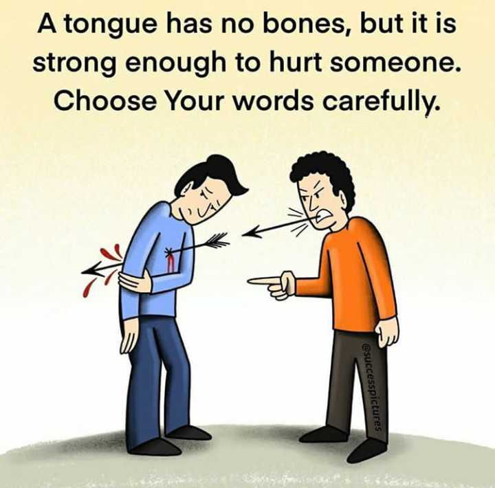 🔍 ਮਜ਼ੇਦਾਰ facts 🔖 - A tongue has no bones , but it is strong enough to hurt someone . Choose Your words carefully . IL AGO @ successpictures - ShareChat