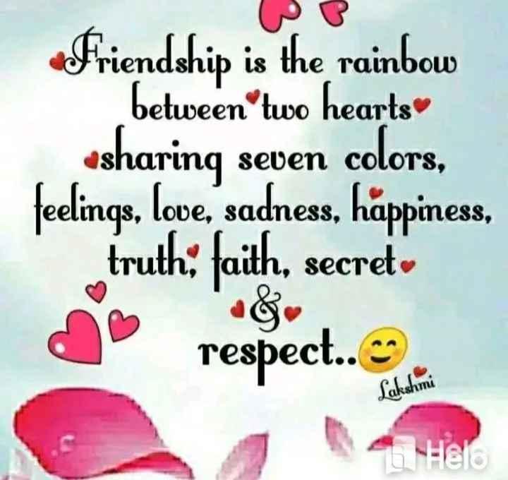 👬 ਯਾਰ ਅਣਮੁੱਲੇ - Friendship is the rainbow between two hearts sharing seven colors , feelings , love , sadness , happiness , truth ; faith , secret a respect . . . - ShareChat