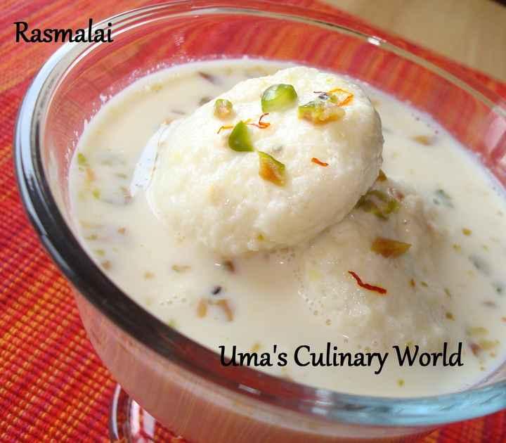 😋 ਰਸਮਲਾਈ - Rasmalai Uma ' s Culinary World - ShareChat