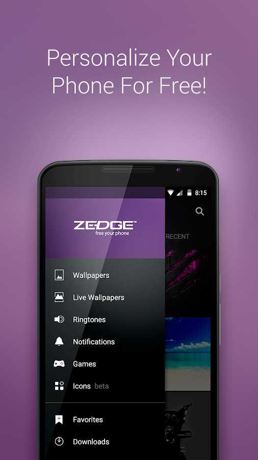 🎵 ਰਿੰਗਟੋਨਸ - Personalize Your Phone For Free ! 4 18 : 15 ZEDGE free your phone RECENT - Wallpapers Live Wallpapers Ringtones - Notifications 3 Games 18 Icons beta + Favorites Downloads - ShareChat