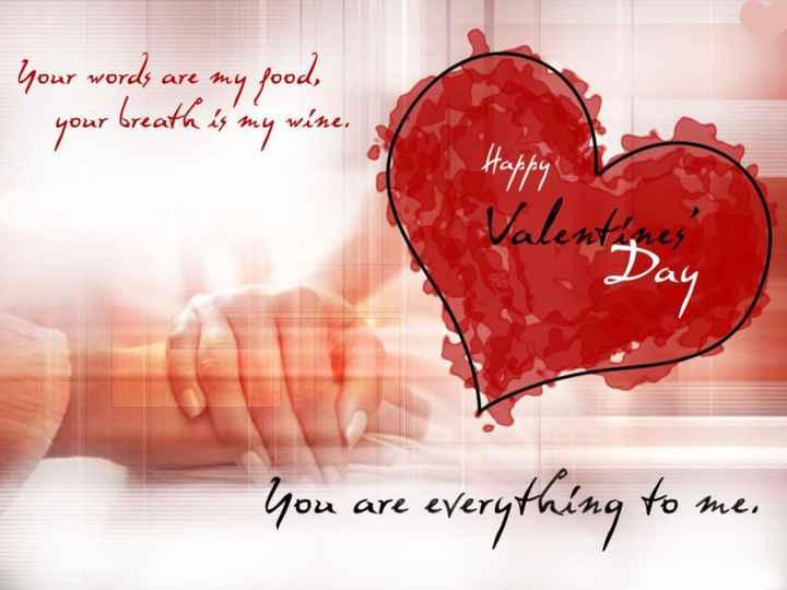 💘ਵੈਲੇਨਟਾਈਨ ਡੇ Coming Soon - Your words are my good , your breath is my wine , - Valentines You are everything to me , - ShareChat