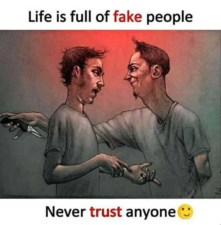 ਸੱਚਈ😊👈👇👇 - Life is full of fake people Never trust anyone - ShareChat
