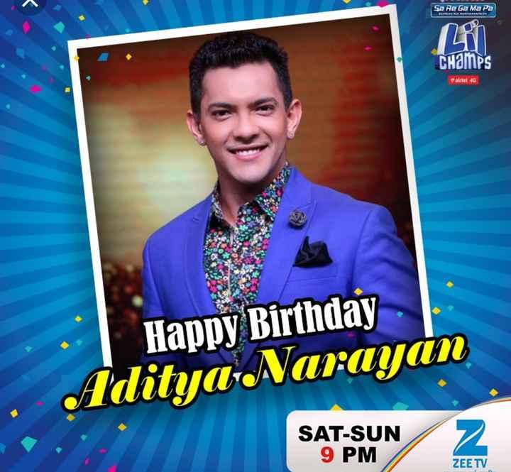 🎂 ਹੈਪੀ ਬਰਥਡੇ ਆਦਿਤਿਆ ਨਾਰਾਇਣ - Sa Re Ga Ma Pa BMW RAMACH airtel 4G Happy Birthday Adityanarayan SAT - SUN 9 PM ZEE TV - ShareChat