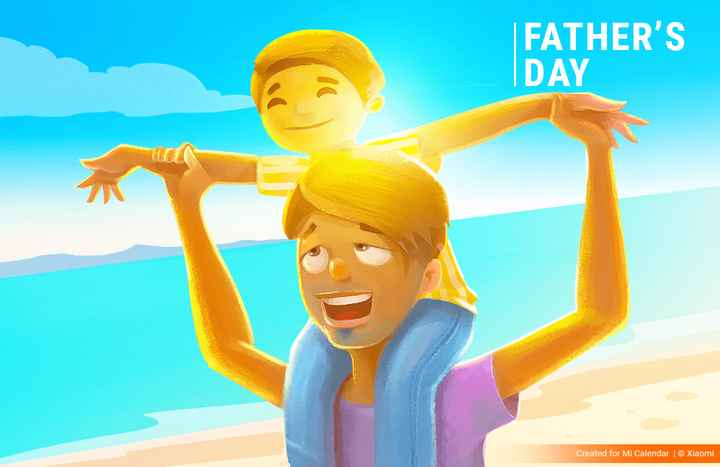 ਹੈਪੀ father's day - FATHER ' S DAY Created for Mi Calendar © Xiaomi - ShareChat