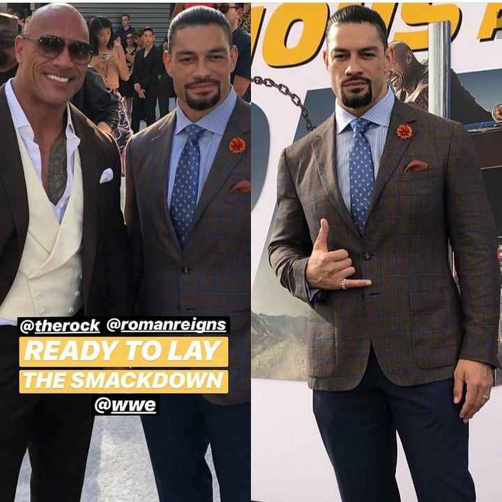 અંગ્રેજી ફિલ્મ - @ therock @ romanreigns READY TO LAY THE SMACKDOWN @ wwe - ShareChat