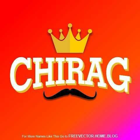 અક્ષર કળા - CHIRAG For More Names Like This Go to FREEVECTOR . HOME . BLOG - ShareChat